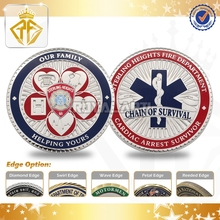 Chain of survival Hard Enamel challenge coin