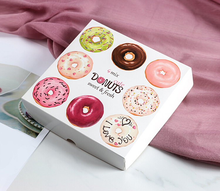 Wholesale custom cardboard paper donut box for packaging