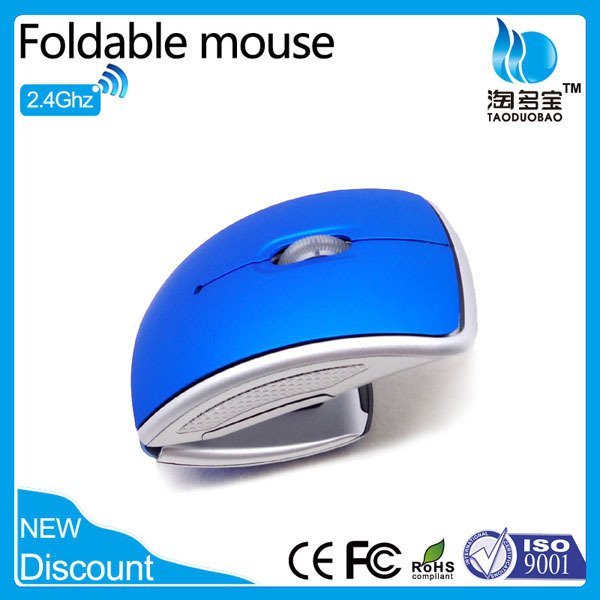 New Fashion gift mouse foldable mini wireless mouse for laptop desktop PC