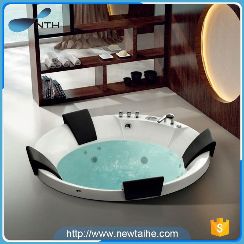 NTH alibaba gold supplier eco-friendly washroom 1 person one person whirlpool bubble bath spa