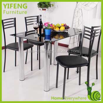 Durable Strong Chromed Four Legs Dining Table Table Set Buy Dining Table Du