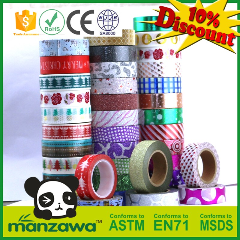 Custom design washi tape paper product for nail art
