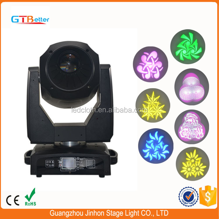live music dj light rotating 3-prism gobos led 150w Moving Head Light Spot