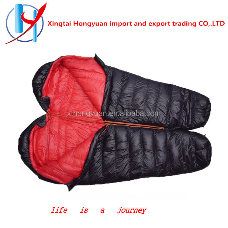 Factory direct sell adult down filled lightweight sleeping bag