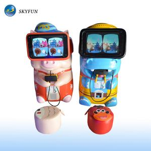 Bear baby gift kiddie rides 9d vr simulator video games coin operated amusement park machine