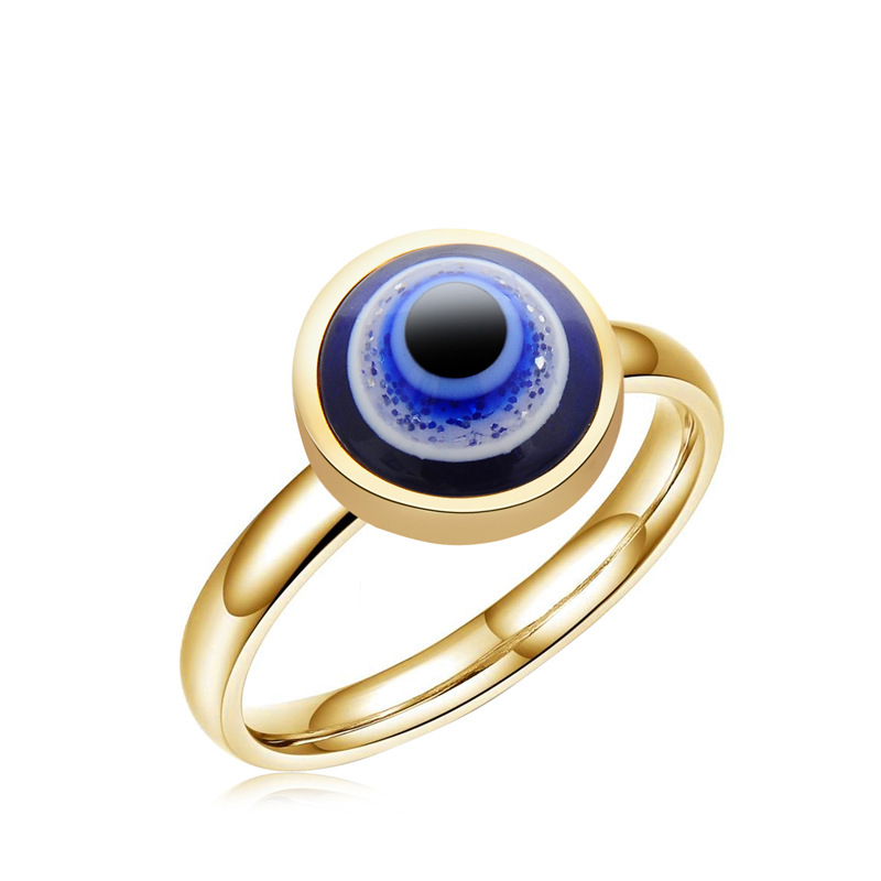 ally express cheap wholesale European-style smart gold sliver blue eye ring jewelry
