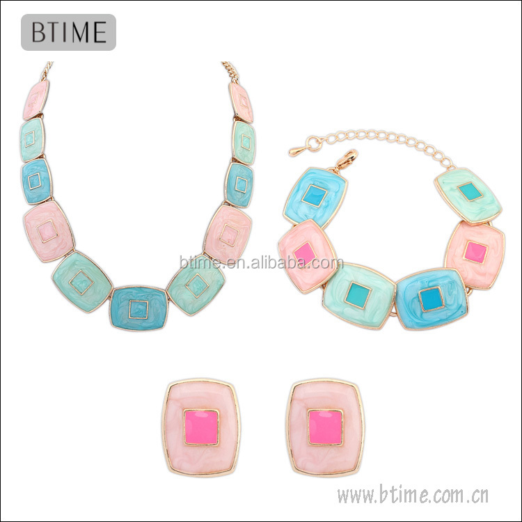 New Arrival alloy jewelry set Earrings&bracelet&Necklace Jewelry Set
