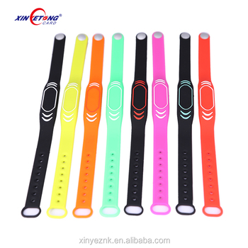 ISO9001 adjustable silicone wristband proximity watch strap for events
