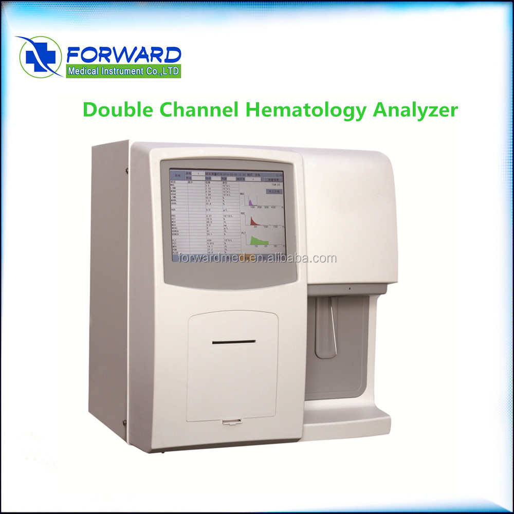 CE Approved Lab Equipment 3 Part Fully Automatic Hematology Analyzer Price with 60 Tests