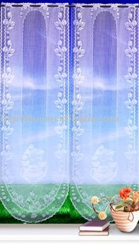 poly lace jacquard valance curtain