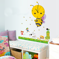 Decorative kids cartoon picture wall clock