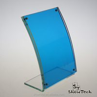 Hot sale Sex looking L shape slant clear acrylic picture photo frame stand ST-PFLCM3550 K01