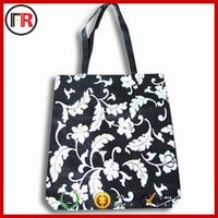 Ladies plastic tote bag with zipper with strap