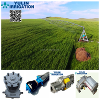 Yulin Two Wheels Agriculture lateral move Irrigation System for new zealand customer for free installation