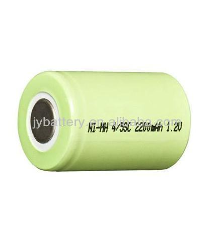 cylindrical Rechargeable battery 2200mah NiMH 4/5sc battery