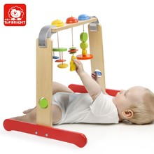 Wooden toy with ball and ground/rolling ball with coloful ground for kids/wooden toy ball with number ground surround steel