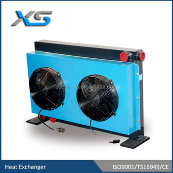 hydraulic oil cooler for concrete pump,double elctrical fan
