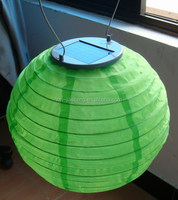 2015 Festival 20cm lanterns solar outdoor powered Chinese nylon fabric round hanging LED solar rechargeable lantern