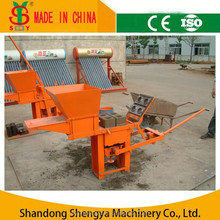QMR2-40 small manual clay interlock brick maker machine