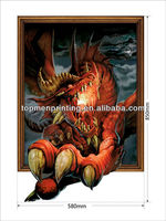 Room decor 3d wall stickers, horrible dragon claw vinyl wall stickers