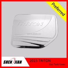 Gas Tank Cover Decoration for Mitsubishi 2015 Triton Auto Parts Accessories by Chromed ABS Plating Exterior motor accessories