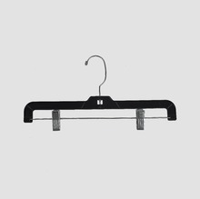 Plastic Bottom Pants Hangers With Metal Clips Clamps 5131