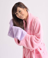 Super Absorbent and Antimicrobial Plush Microfiber Hooded Hair Drying Towels