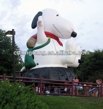 2015 new cartoon design inflatable snoopy