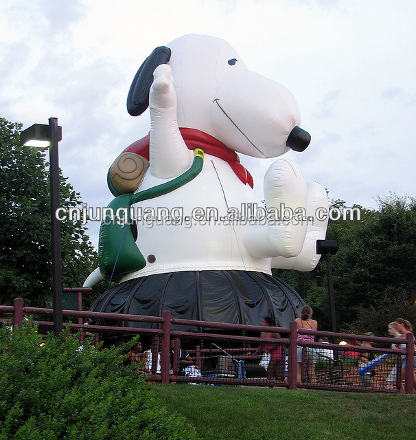 2016 new cartoon design inflatable snoopy