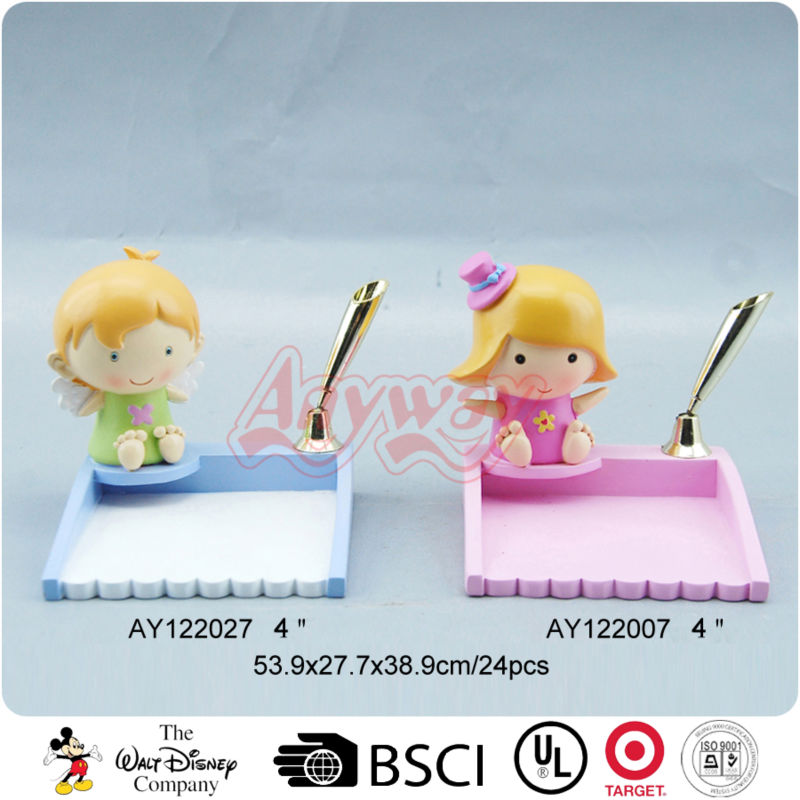 Cartoon baby items memo and pen holder school decoration