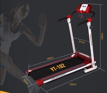 2015 new Ipad/iphone chargeable foldable pro fitness treadmill YT-102