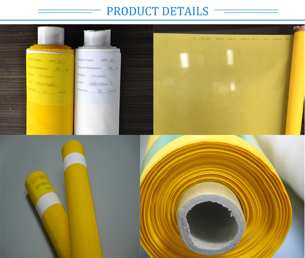 High quality 100% Polyester screen printing mesh 40-420Mesh