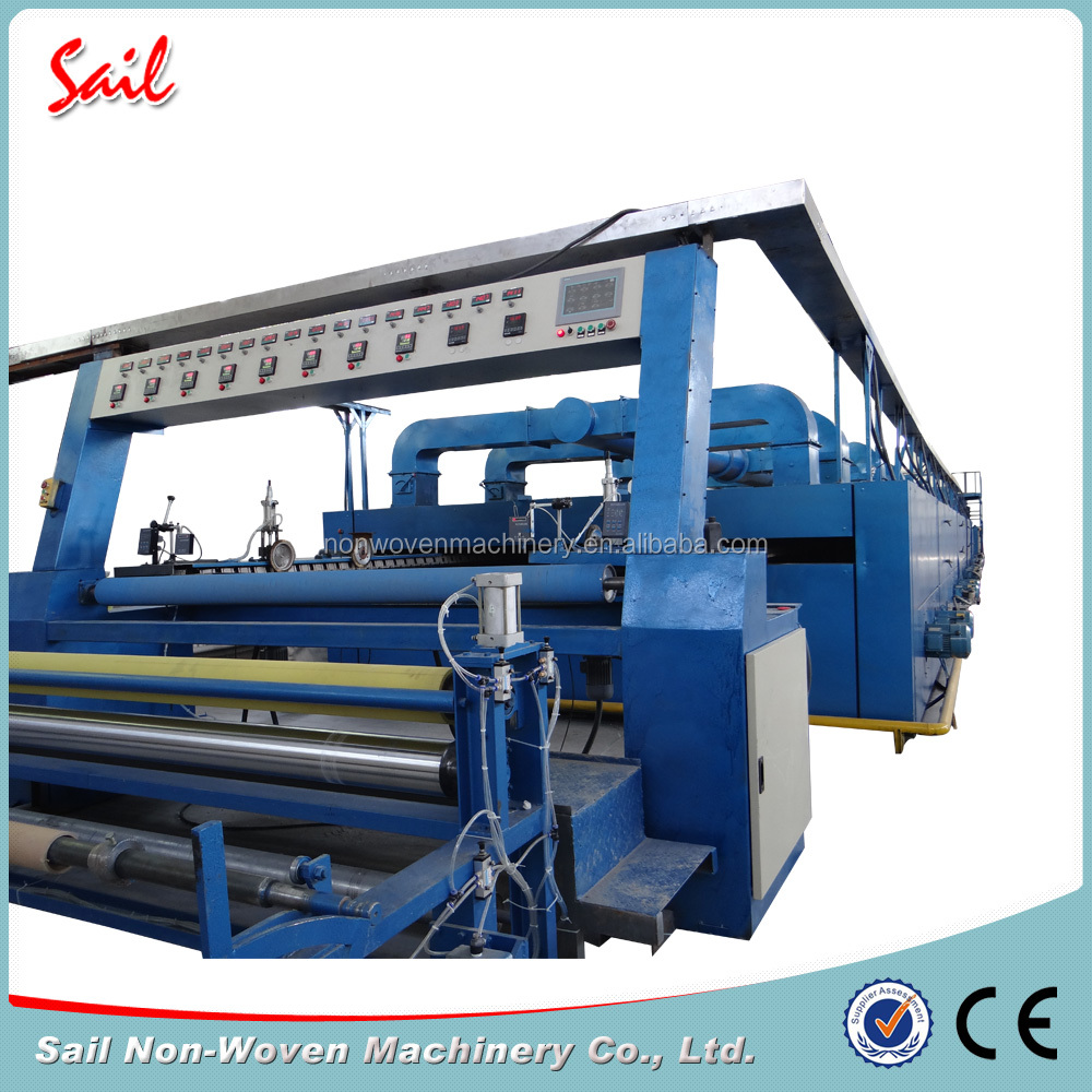 diesel oil Heating Sail Non Woven Dipping And Hot Stentering Machine