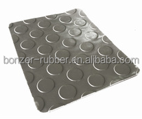 coin pattern/round button rubber mat/sheet from chinese supplier