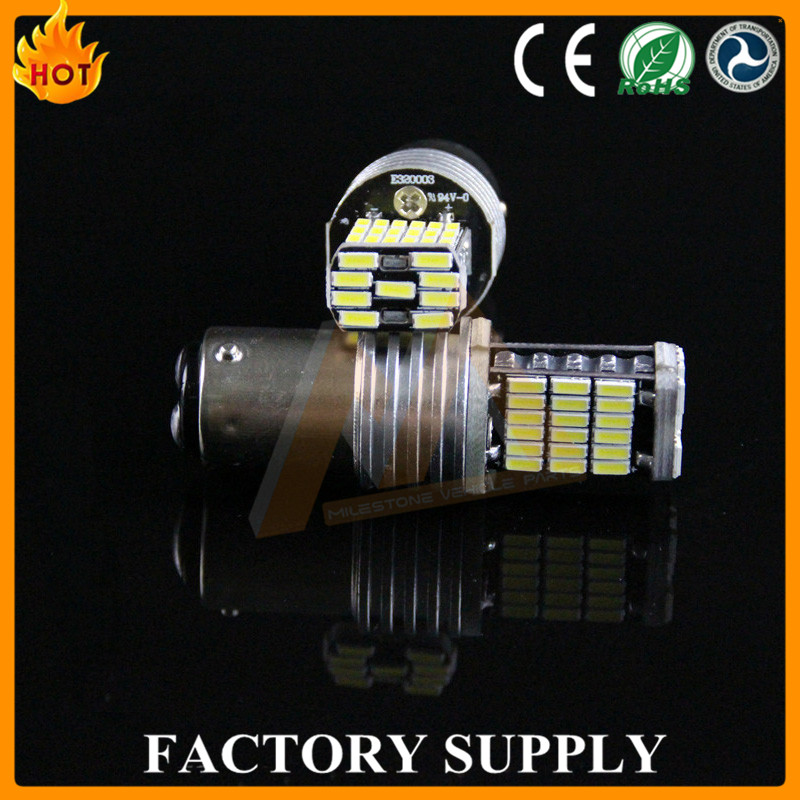 Car led bulb 4014 45SMD 1157 1156 ba15s base canbus led t20