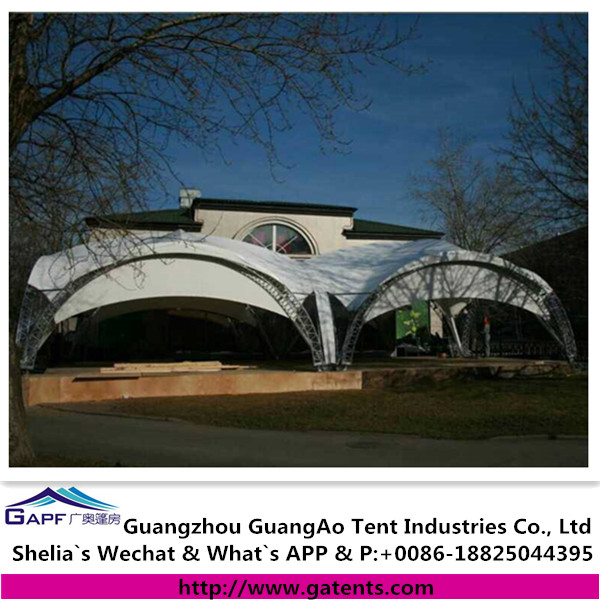Kazakhstan case fabric roof canopy structure for restaurant tent