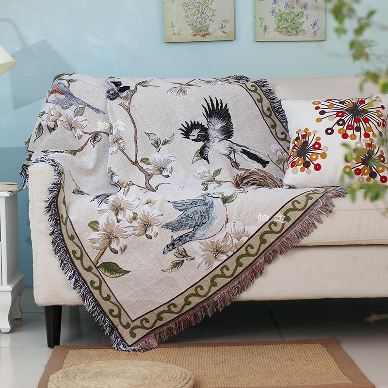 2016 New Design China Manufacturer Jacquard Throw Blanket 100 Cotton