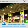 Steel frame gas station canopy for sale