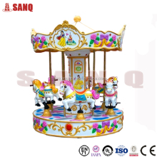 Amusement Park Carousel Horse Coin Operated Kiddie Rides Carousel For Sale