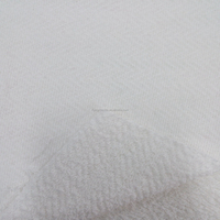 white organic cotton pure cotton french terry stretch knit fabric
