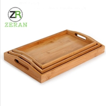 High quality natural wholesale handmade tableware home food storage fruit food serving bamboo dinnerware tray