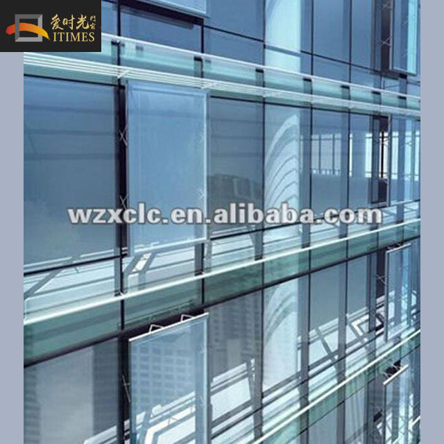 Exposed frame aluminum curtain wall