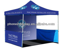 10 ft portable gazebo, 600D polyester canopy, full wall graphic and half wall printed. portable and suitable outdoor waterproof