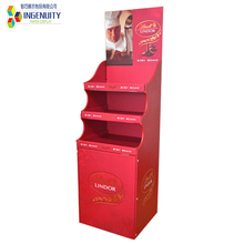 supermarket warehouse corrugated cardboard counter display shelf for commodity battery