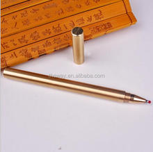 Exclusive Matte Brass Gel Pen High end sign pen Gift Gel pen