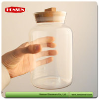 European fashionable first rate Bpa free european export big volume storage jar with glass lid