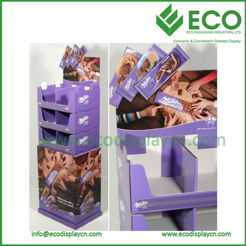 Shenzhen 2014 Pop Display Stand Pos Cardboard Unit for Chocolate Display