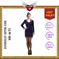 2016 New Arrival Halloween Sex Pilot Lady Costumes Sexy Uniform Lingeries for Teen Girls
