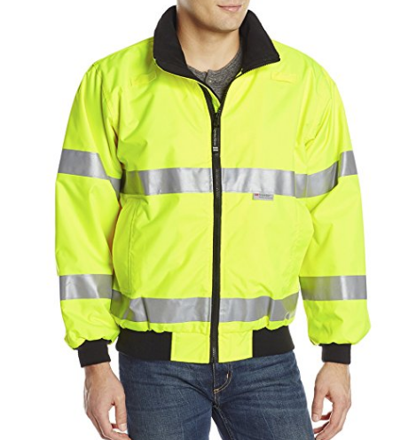 Mens Waterproof Two Tone Bomber Jacket Hi Vis Visibility Work Wear Hi Vis Standard