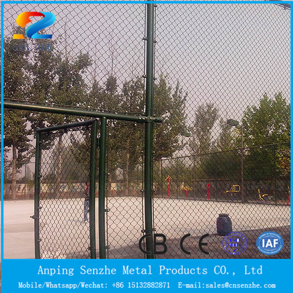 Electro galvanized chain link fence/pvc coated chain link wire mesh